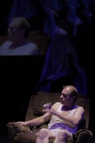 Safa Samiezade-Yazd (The Chorus) & Robin Davies (White). Photo by Ryan Gaddis (2011)