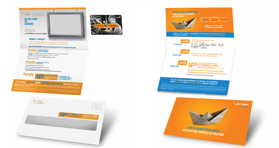 direct mail vonage sobres