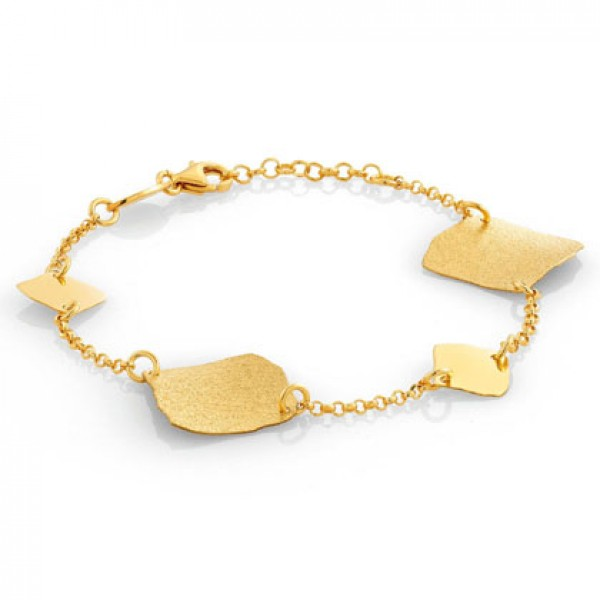 "Bagno Oro 24kt Nomination Bracciale ""ninfea"" Collection 142840/008"