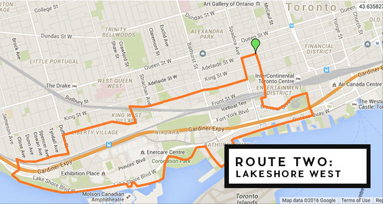 running map lakeshore w