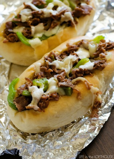 Cheesesteak Sandwiches - Life In The Lofthouse