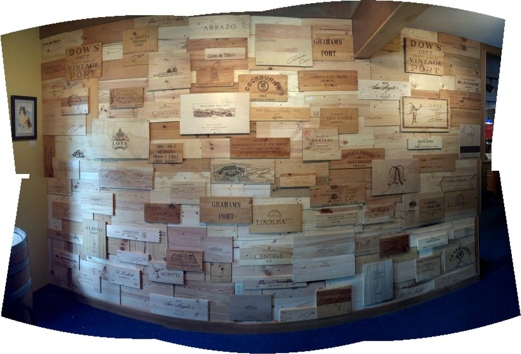 Make an awesome looking wall using recycled wine crates What to do with wine crates