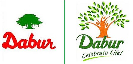 Dabur old and new logo
