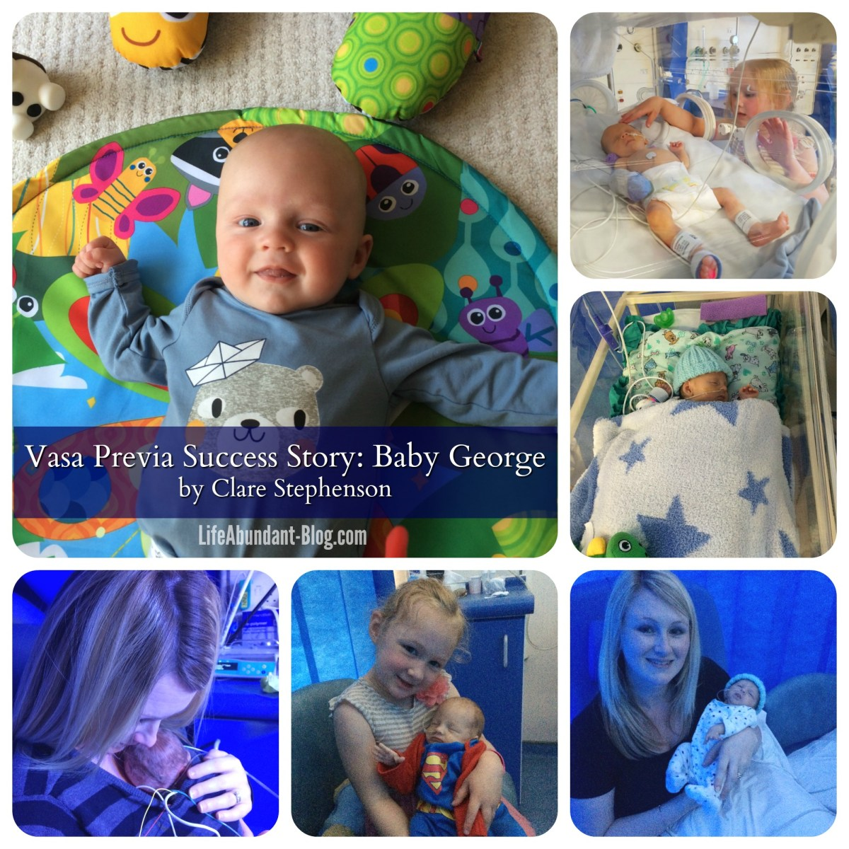 Vasa Previa Success Story: Baby George, by Clare Stephenson