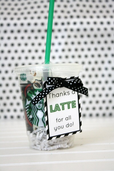 A Latte Thank You Printable printable thanksgiving thank you card