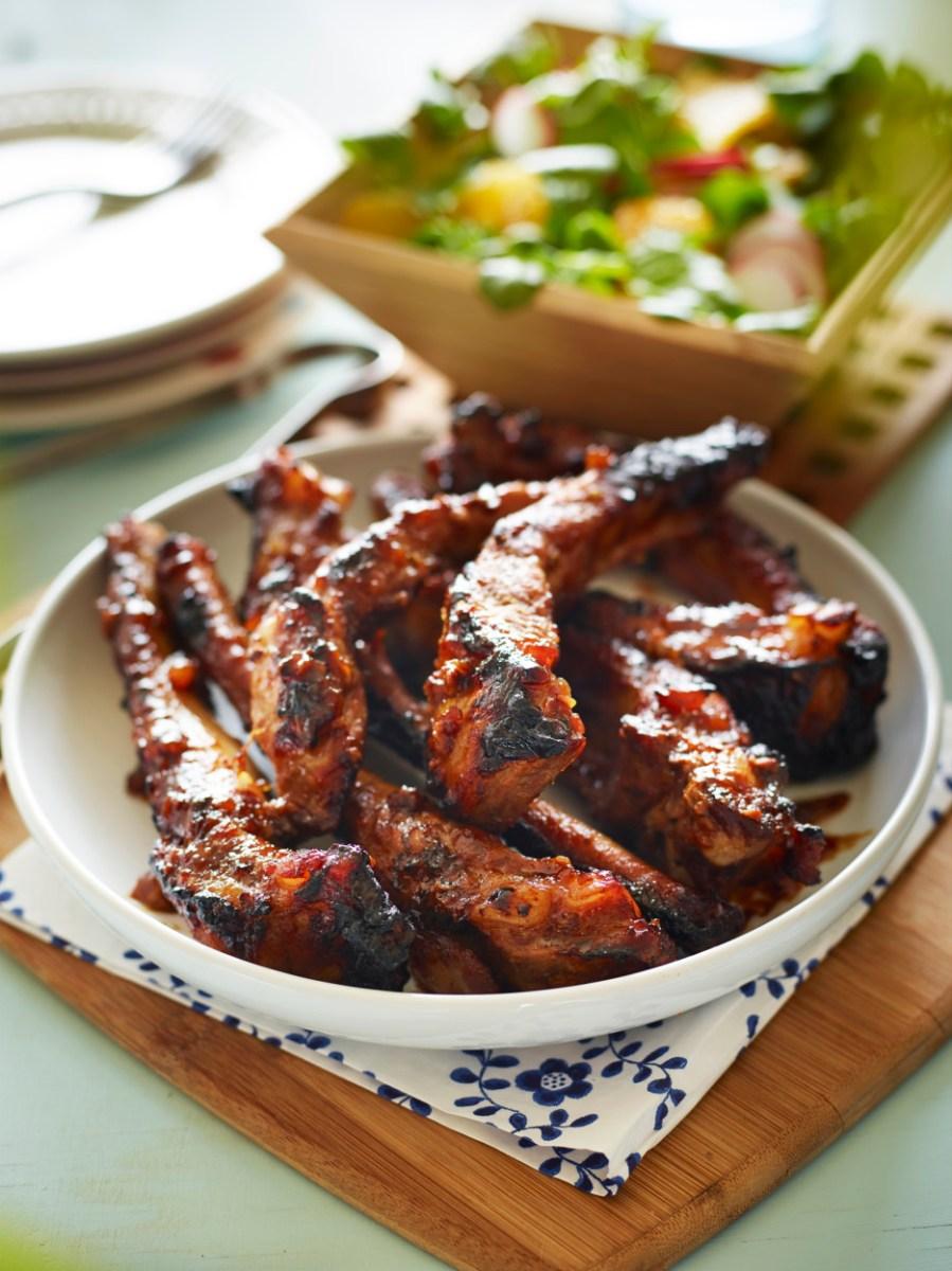 BBQ Spiced Marmalade Glazed Pork Ribs