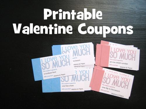 DIY on a Dime FREE Printable Valentine Coupons - diy printable coupons