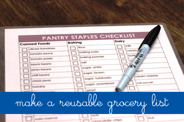 Make a Reusable Grocery List to Save Time in the Kitchen - Life As Mom