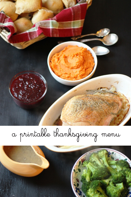 Thanksgiving Meal Plan to Print  Cook - Good Cheap Eats