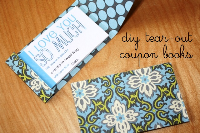 Make a Tear-Out Coupon Book Make a Book of Coupons - Coupon Book Printing