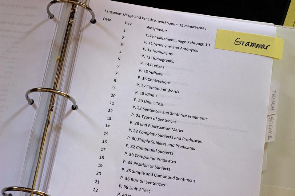 Homeschool Assignment Binders Life as MOM - daily assignment sheet
