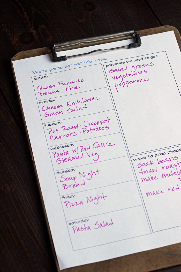 A FREE Printable Meal Planner - Life as Mom