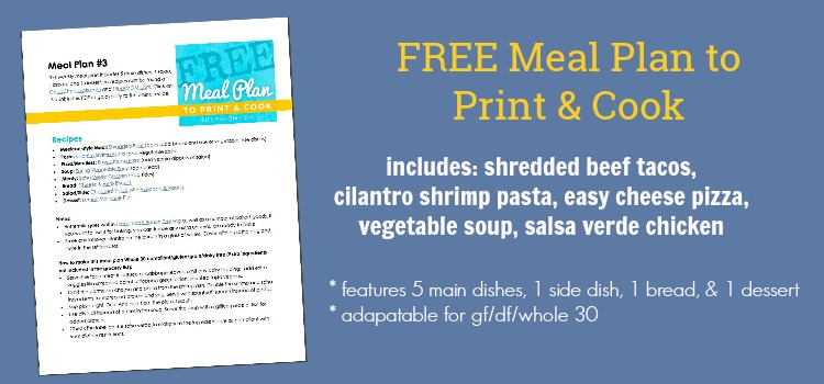 FREE Printable Meal Plans  Grocery Lists - basic meal planner