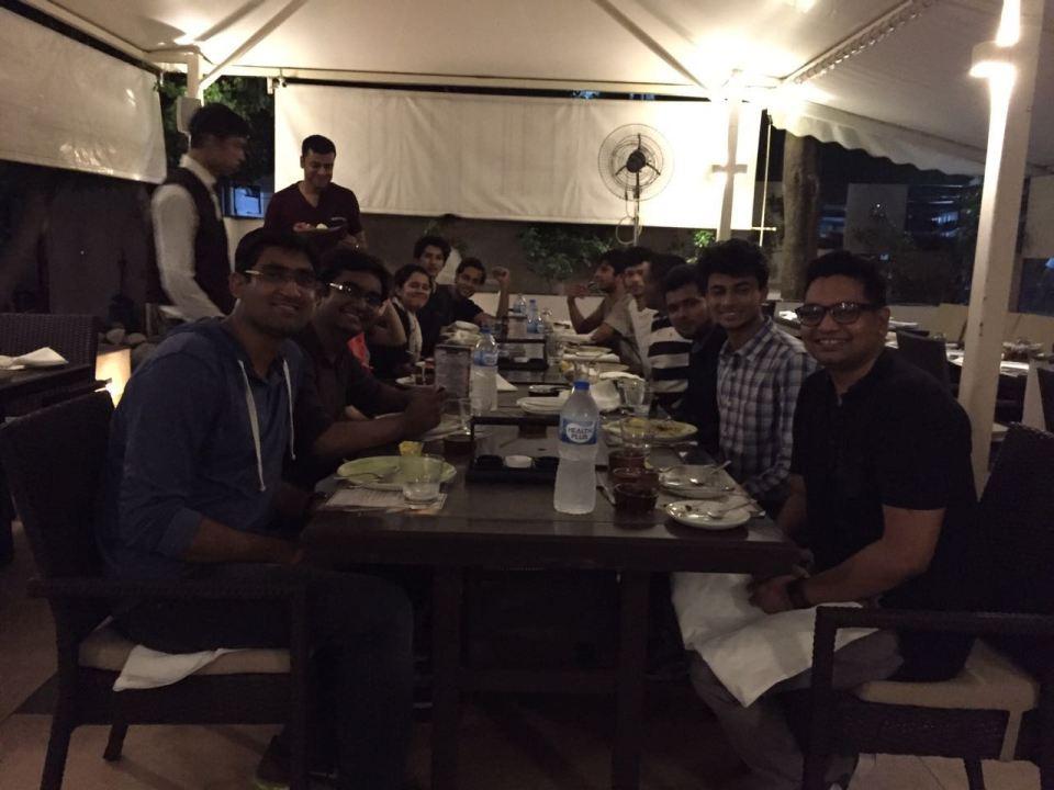 Dinner at Sayaji Hotel