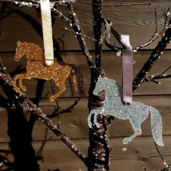 rearing horse christmas decoration