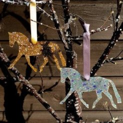 trotting horse Christmas decoration