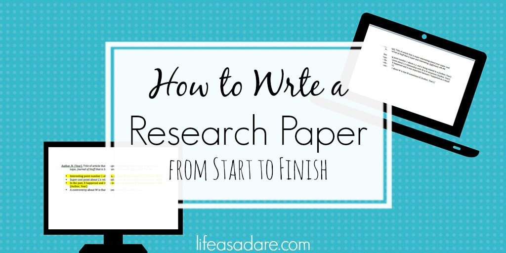 The Collegiate\u0027s Guide to Writing a Research Paper - Life as a Dare - how to write a research paper