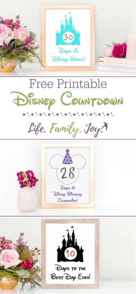 Free Disney World Countdown Printable - Life Family Joy