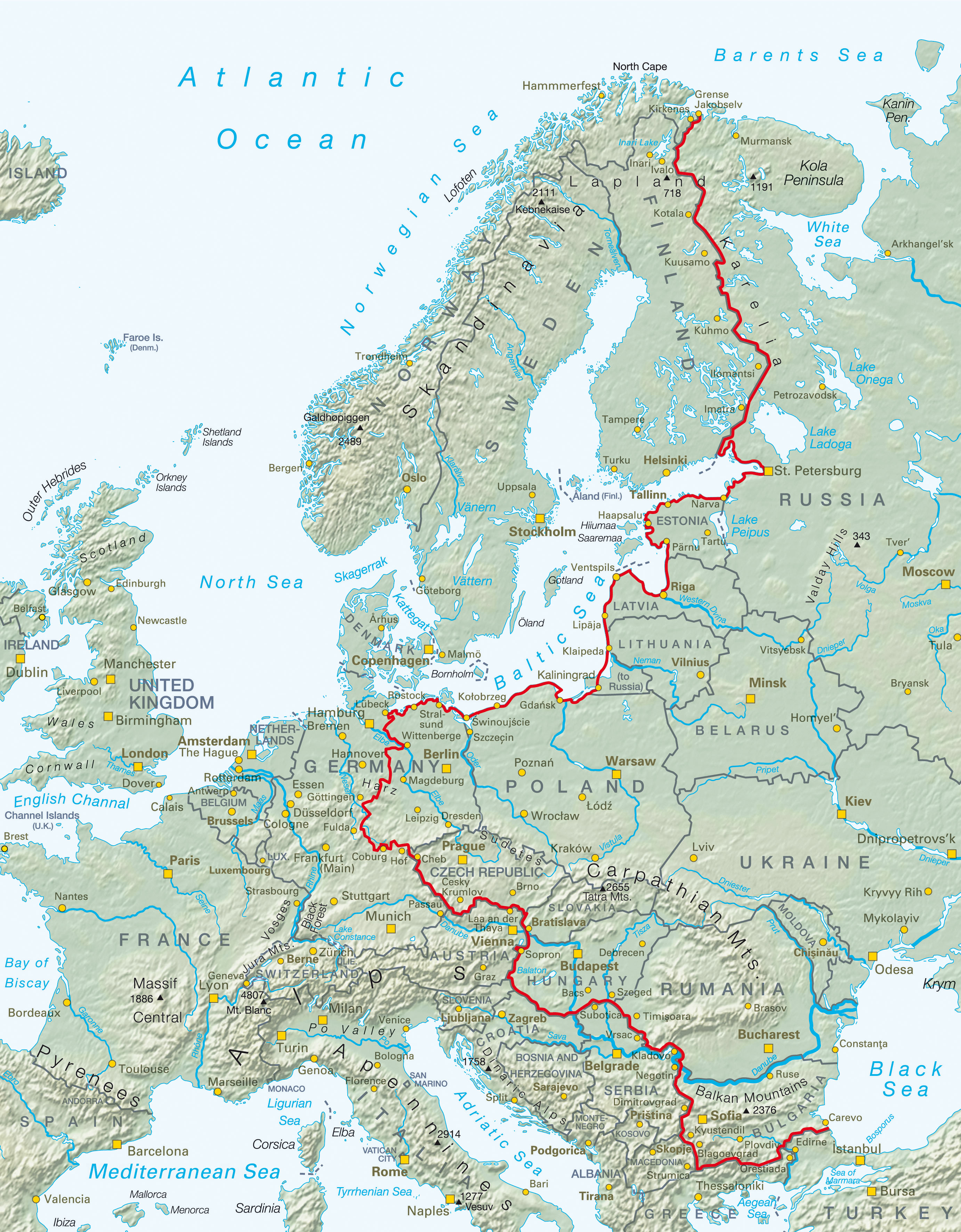 Iron Curtain Map A Cycling Lane Replaces The Iron Curtain That Divided Europe