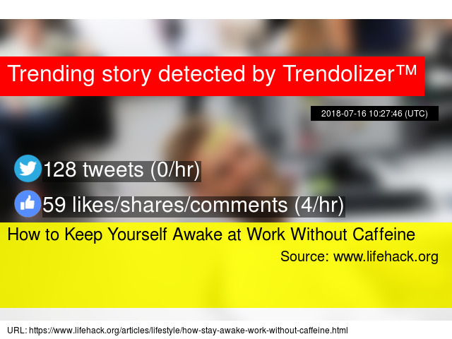 How to Keep Yourself Awake at Work Without Caffeine