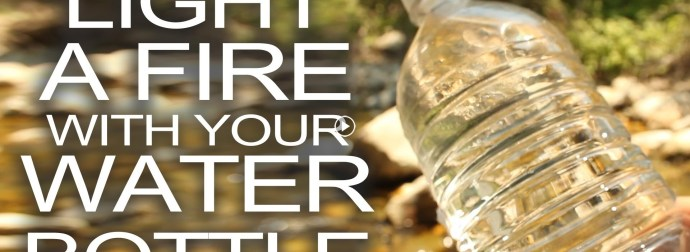 Survival Lifehacks! Start a fire with a Water bottle!