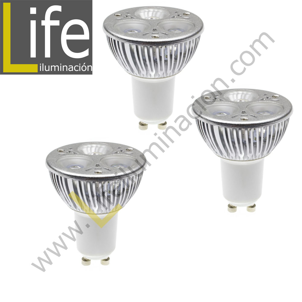Lamparas Led 3w 3xgu10 Led 3w 60k 220v Three Pack Lampara Led Gu10 3w 6000k 220v 60hz