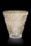 Provence - Vase tamponne or - fond noir