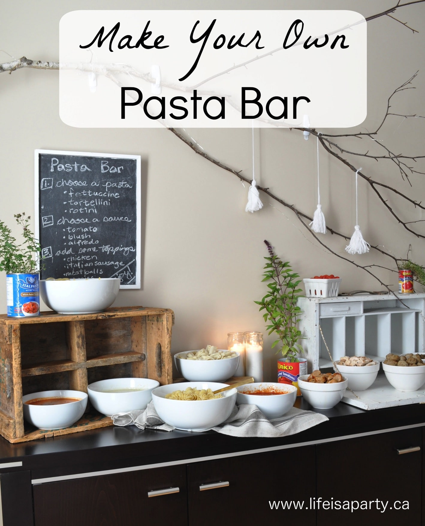 Geburtstag Party Set Make Your Own Pasta Bar Party