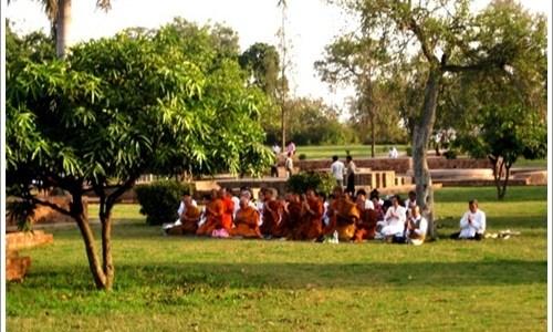 Lord Buddha performed miracles in Sravasti, India