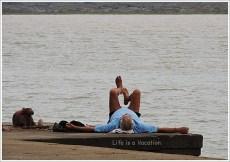 Yoga by Narmada, Maheshwar