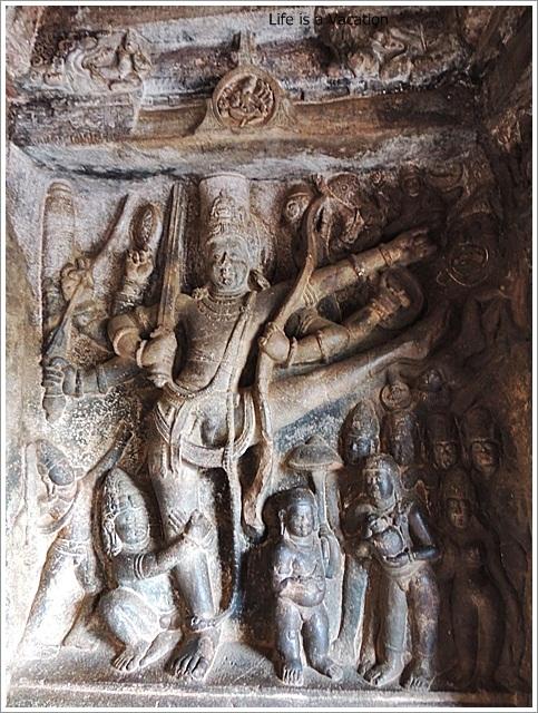 Badami Caves-Cave2-Vishnu