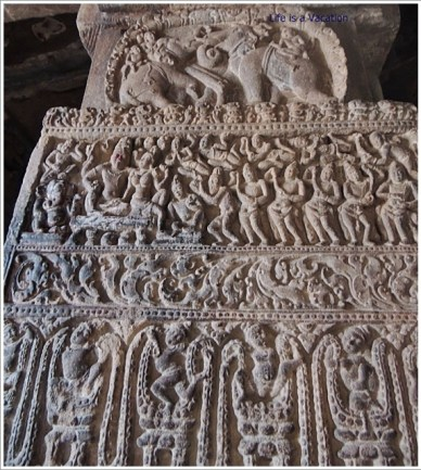Pattadakal Pillar Carving