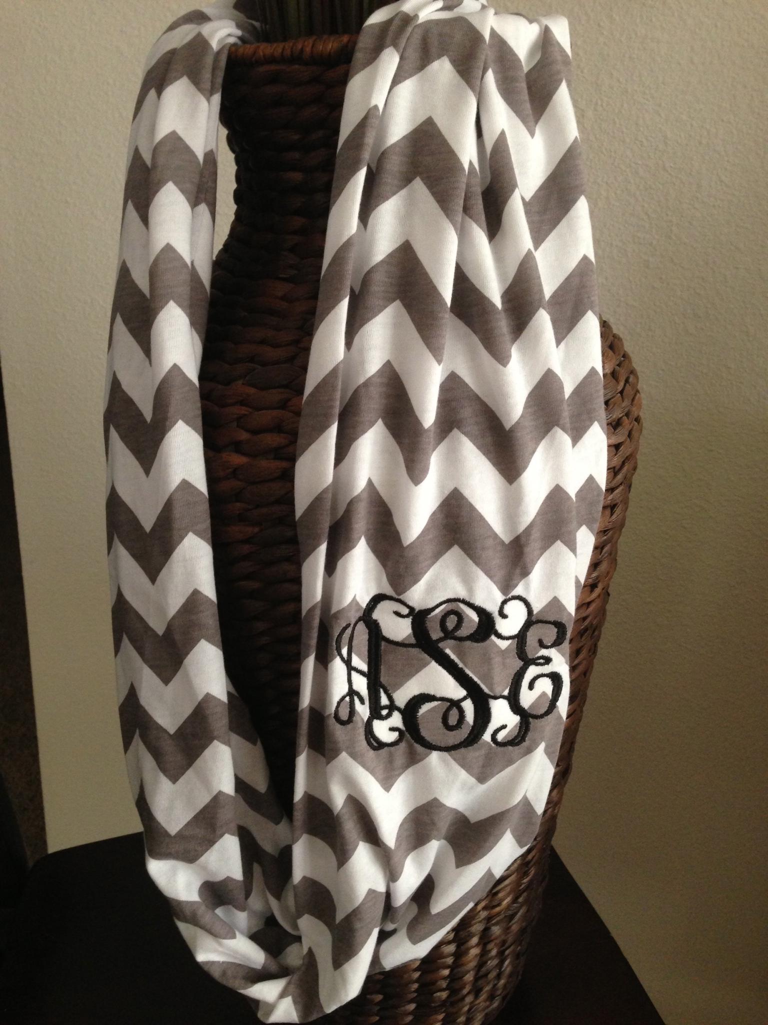 chevron infinity scarf monogram