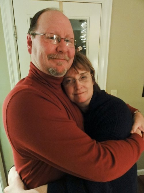 13 Reasons I Give Thanks Today, LifeIsHOTBlog, Brad and D'Anne hugging