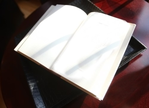 Open a new book in your life, Brad W Smith photographer, LIfeIsHOTBlog, Blank book open on table