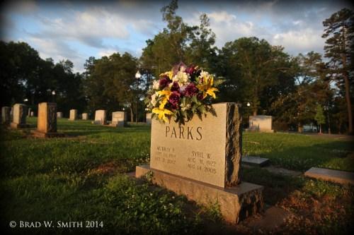headstone, flowers, summer