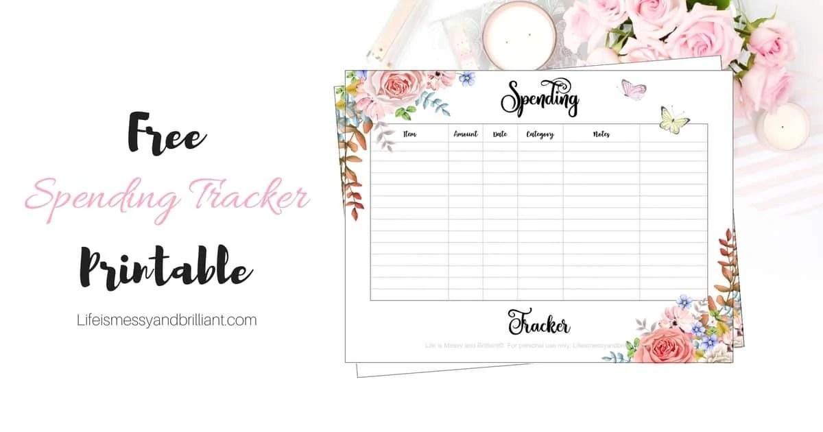 FREE Spending Tracker Printable