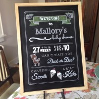DIY: Chalkboard Baby Shower Sign  Life Is Sweet As A Peach