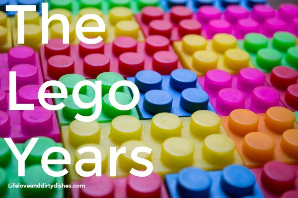 Image of lego bricks with the heading the lego years