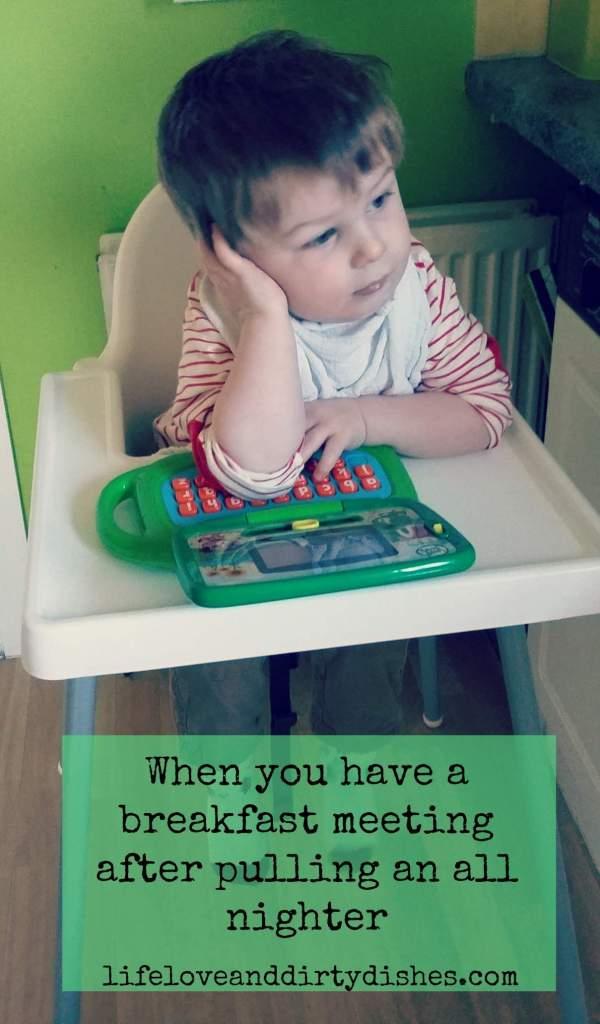 Parenting Meme -Working Breakfast