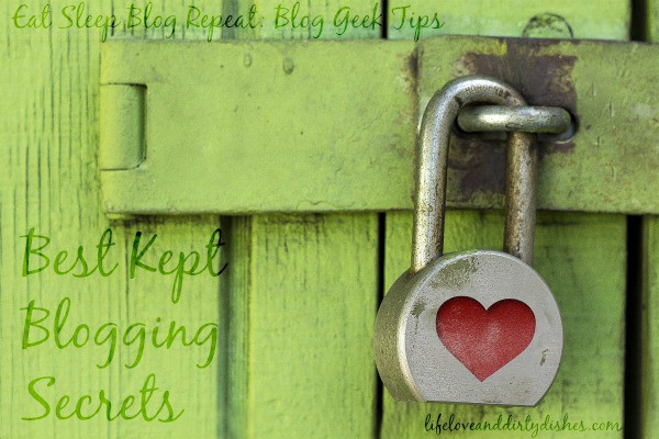 Image of a green shed with a padlock and text saying 'best kept blogging secrets'