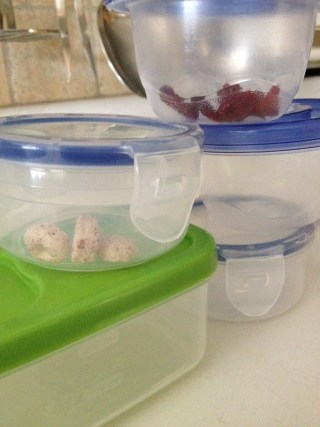 These containers make for a great 'Tops & Bottoms' game with fun food treats