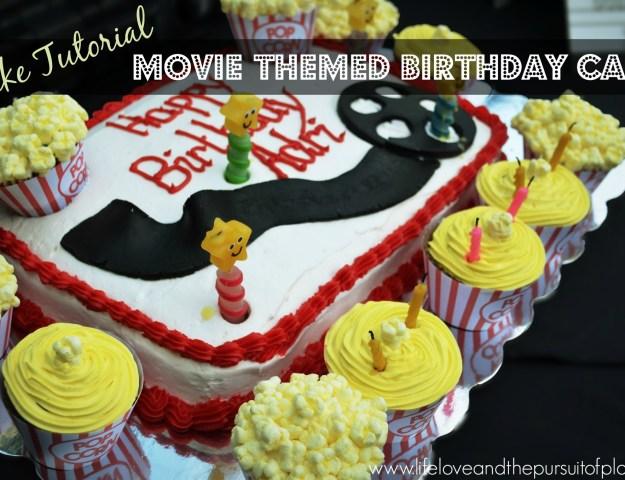 Cake Tutorial Movie Themed Birthday Cake