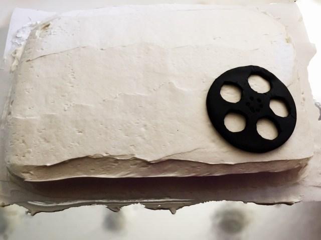 Cake Tutorial: Movie Themed Birthday Cake Step 3