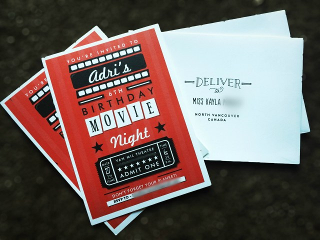Movie Themed Birthday Invitations from Minted
