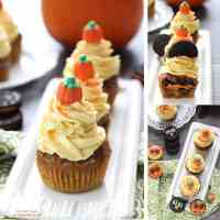 Pumpkin Oreo Cupcakes with Cinnamon Maple Frosting