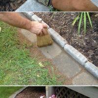Бордюр садовых дорожек и клумб - идеи для дачи