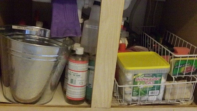 Organizing under the sink after