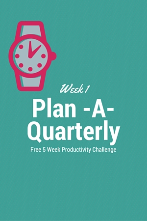 Quarterly Planning Challenge Week 1