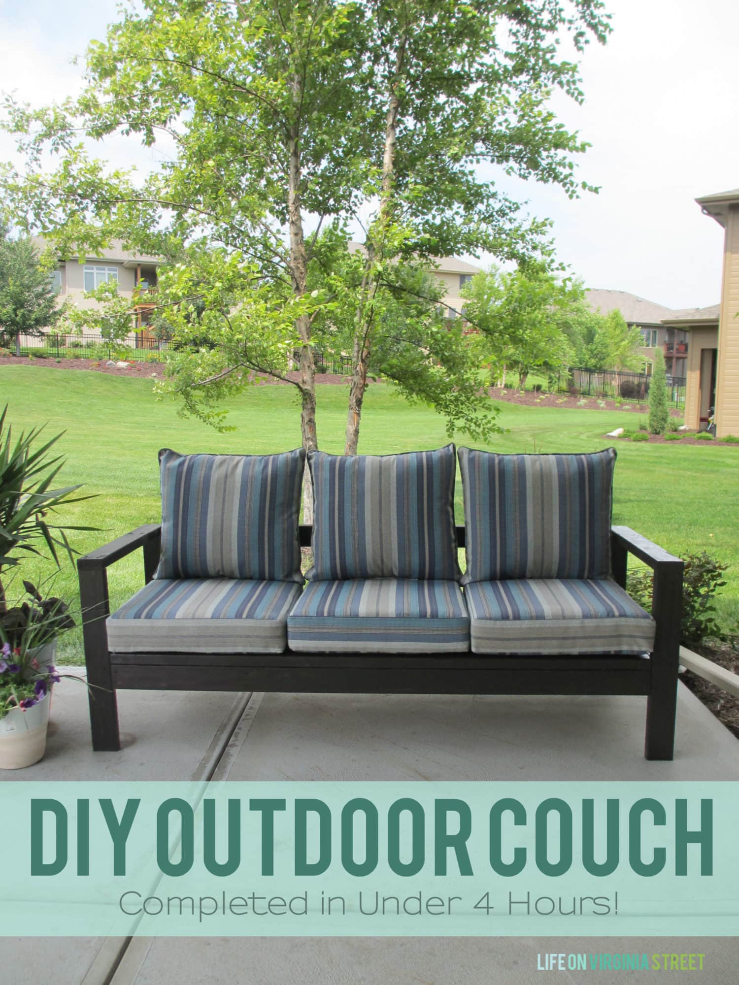 Outdoor Couch How To Build A Diy Outdoor Couch Life On Virginia Street